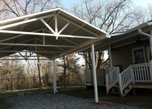 Carport with open gable near Anderson SC