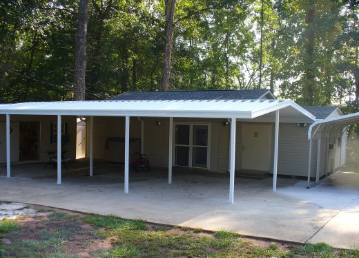 White carport near Simpsonville, SC