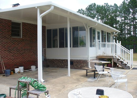 Carport glassroom combination near Greenwood, SC.
