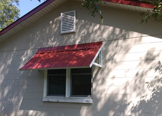 Red Standing Seam Awning~ Anderson, SC