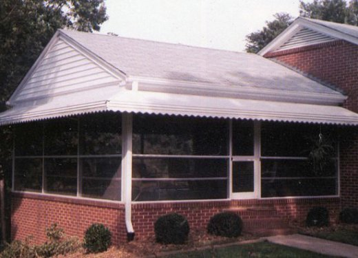 Mitred porch awning near Greenwood, SC