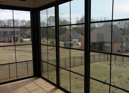 Beautiful view from bronze 4 track vinyl windows Anderson SC