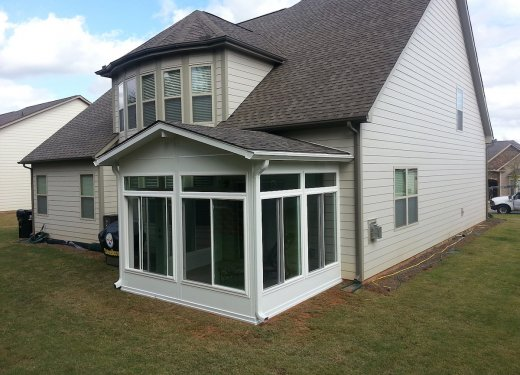 Glassroom on concrete patio near Easley, SC