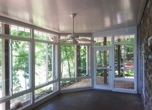 Glassroom & insulated underdeck system Hartwell, GA